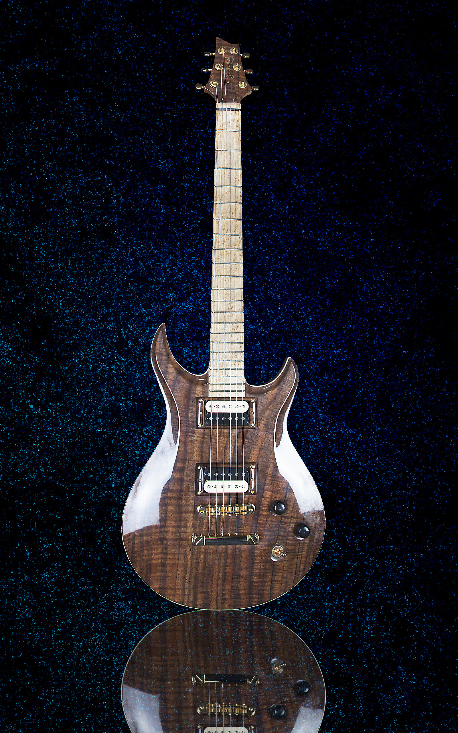 Model 1M Hollow Body King Blossom Custom Guitars