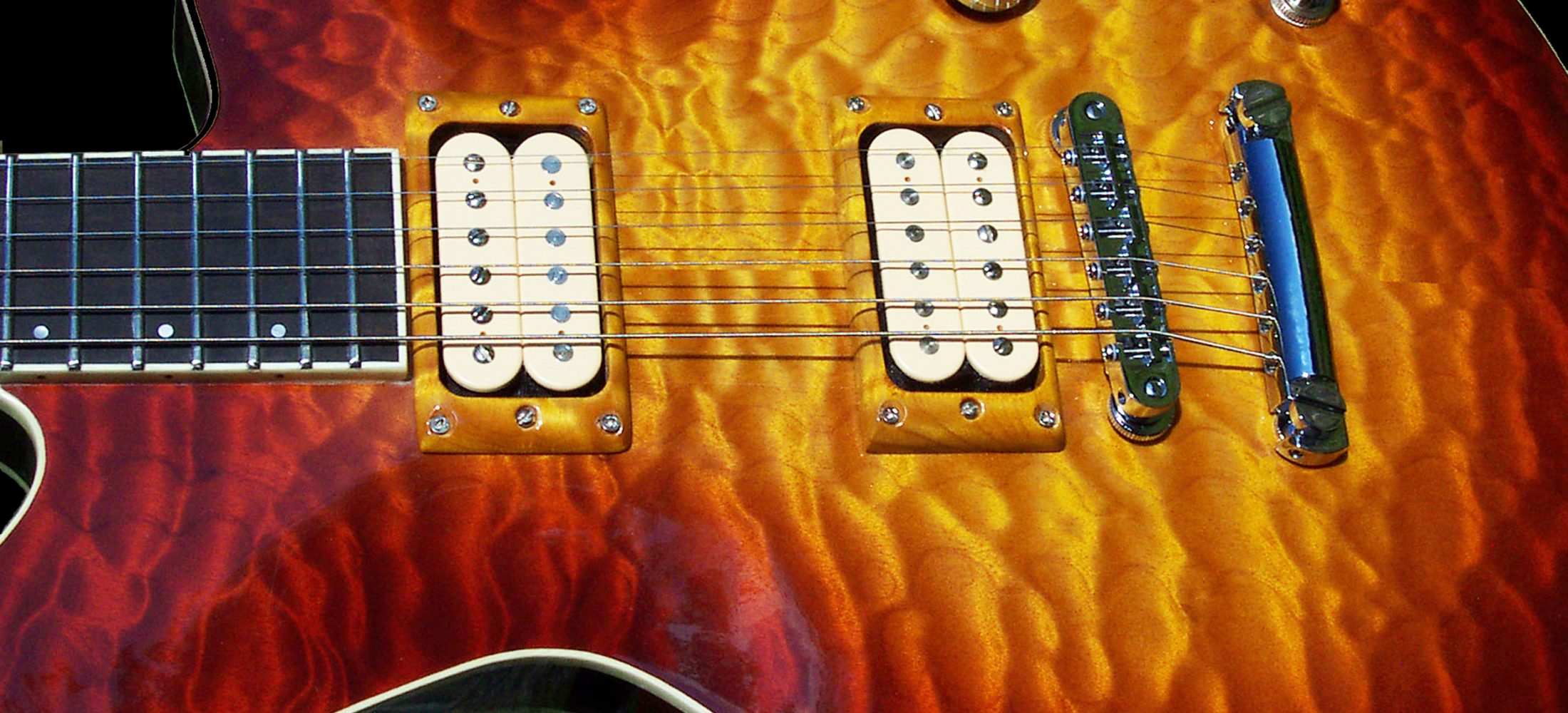 Custom guitar sunburst finish
